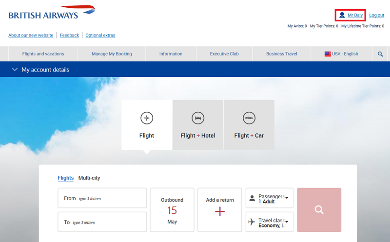 """booking a flight with """"book with avios"""" filter selected"""