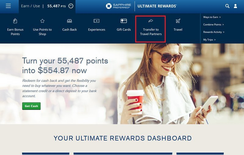Transferring Chase Ultimate Rewards Points to Southwest