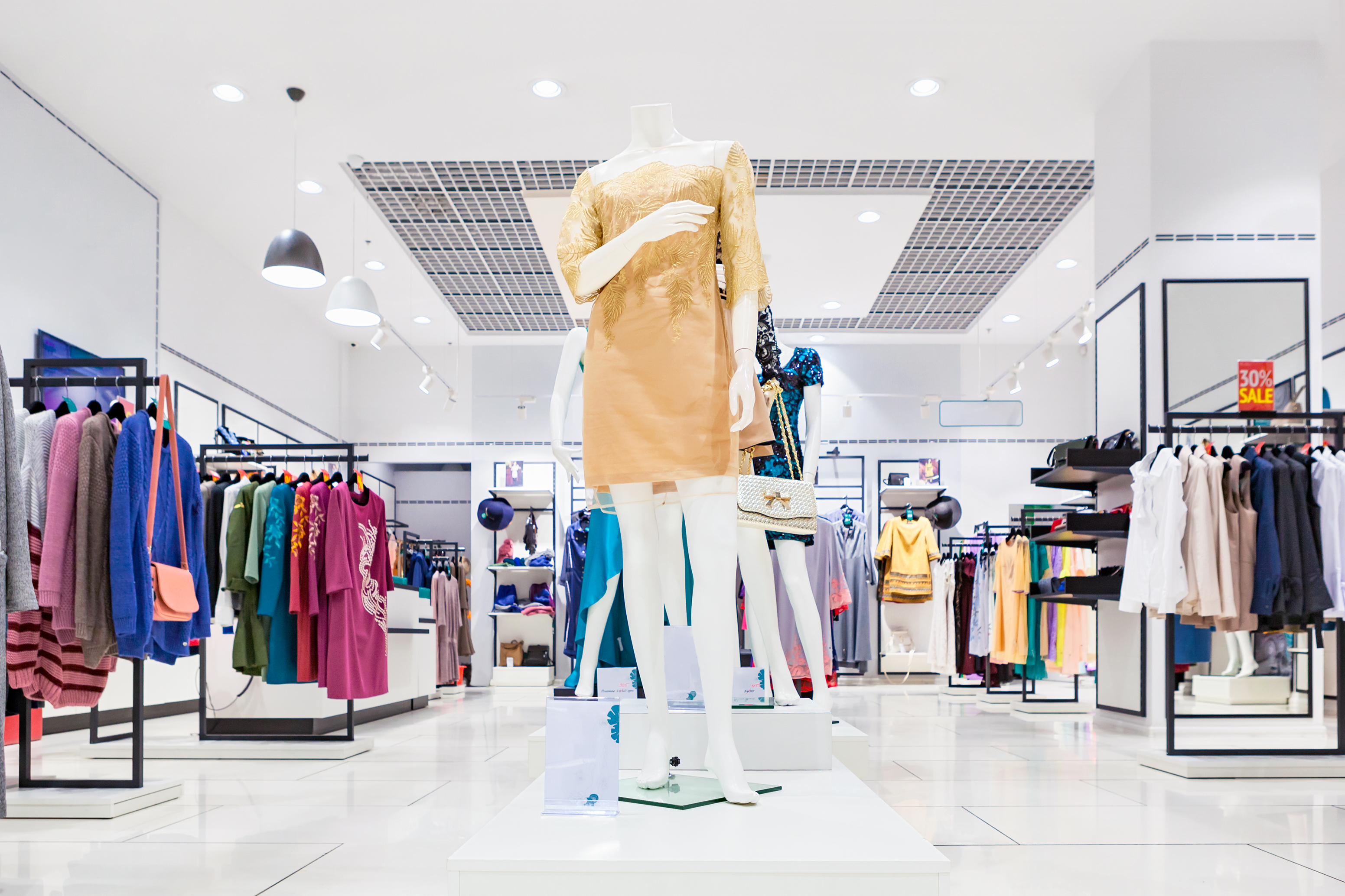 interior of high-end department store